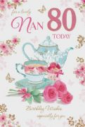 Nan 80th Birthday Card